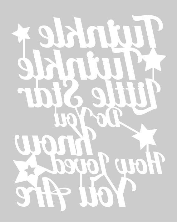 Twinkle Twinkle Papercut Template | SLS Creative
