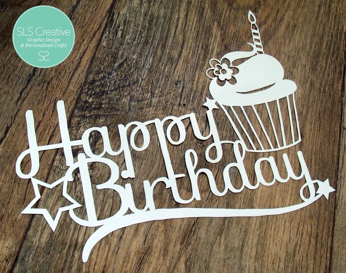 SLS Creative Birthday Paper Cut Template Free