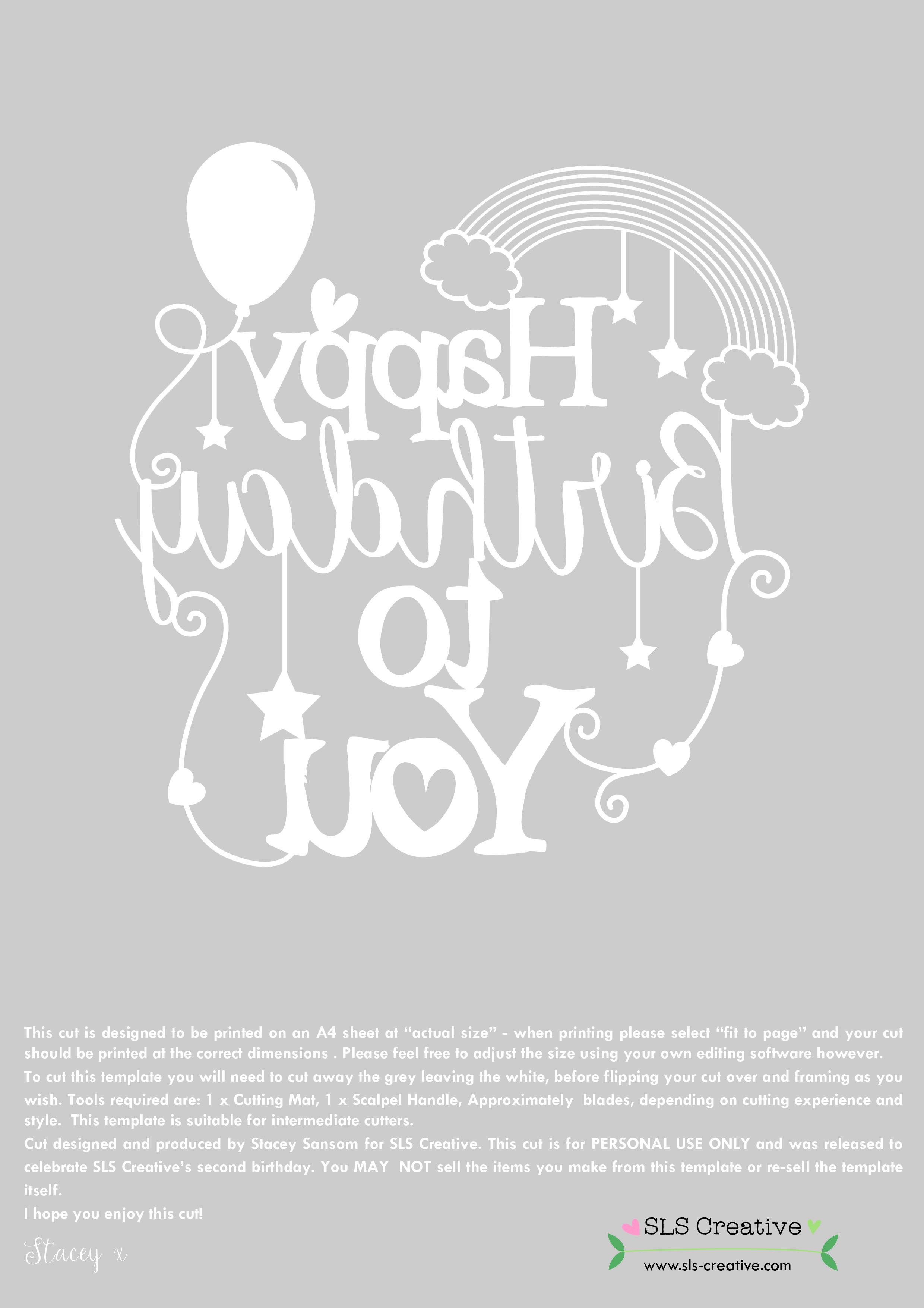 Happy 2nd Birthday SLS Creative! (& Free Paper Cutting Template ...